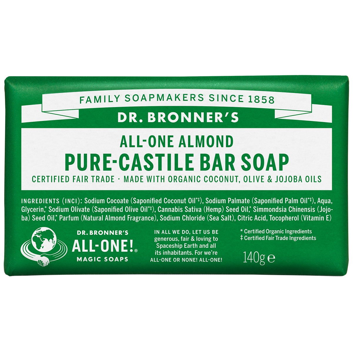 Dr. Bronner's Magic Soaps All-One Hemp Almond