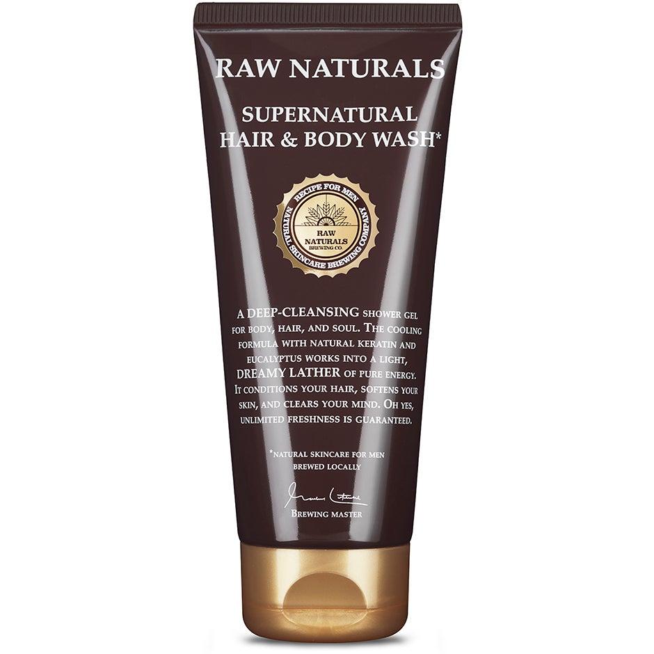 Bilde av 3 In 1 Supernatural Hair & Body Wash, 200 Ml Raw Naturals By Recipe For Men Sjampo