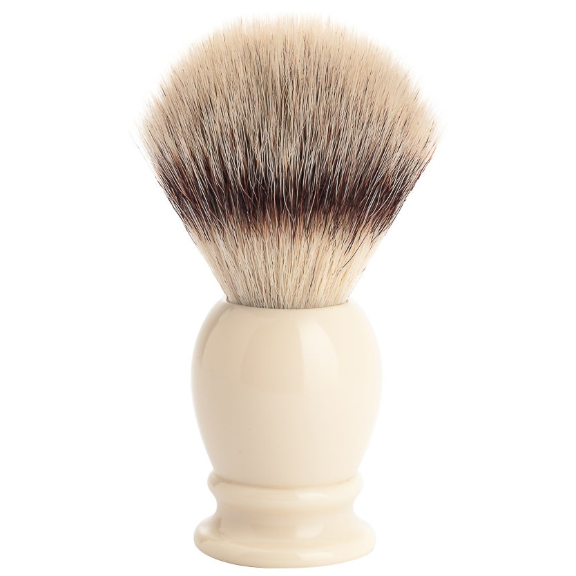 MÜHLE Classic Synthetic Brush, Resin Ivory Silvertip Fibre®