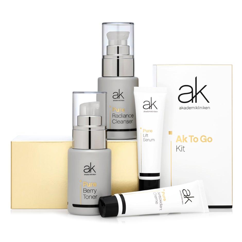Bilde av Ak-to-go Trial Kit, 130 Ml Akademikliniken Skincare Sett / Esker
