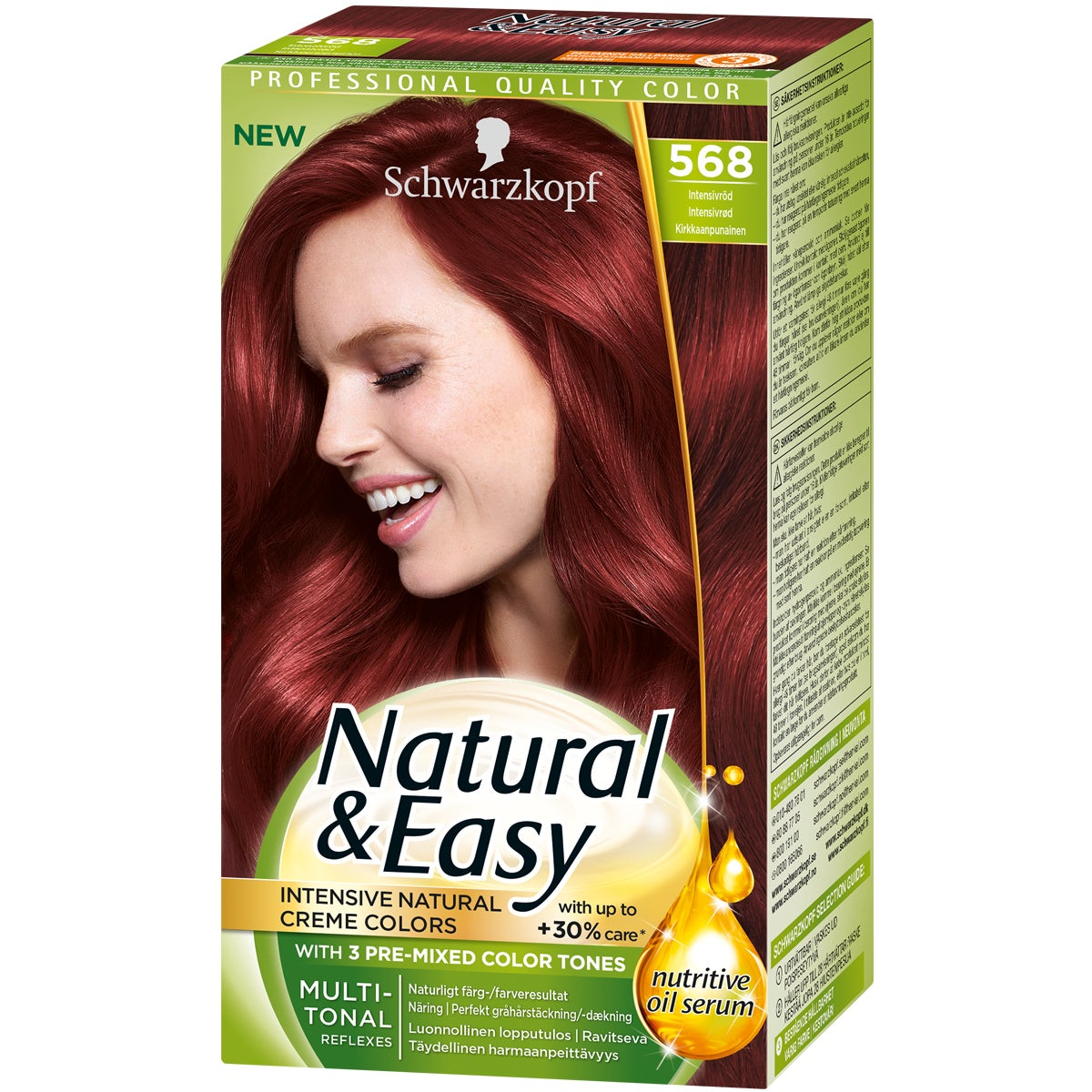 Schwarzkopf Natural & Easy 568 Intensivröd