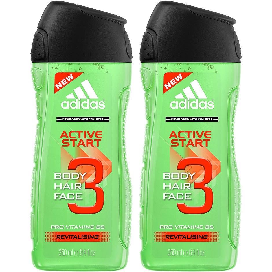 Bilde av 3 In 1 Active Start Duo, Adidas Bad- & Dusjkrem