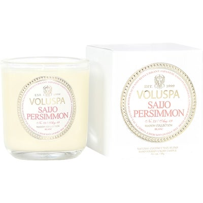 Voluspa Apricot & Coconut Wax Blend Perfumed Candle, Saijo Persimmon