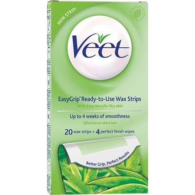 Veet Wax Strips Easy Grip For Dry Skin